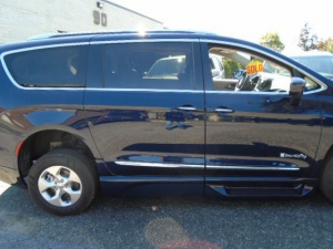 New Wheelchair Van For Sale: 2017 Chrysler Pacifica Touring Wheelchair Accessible Van For Sale with a Braunability Entervan XT on it. VIN: 2C4RC1EG8HR764125