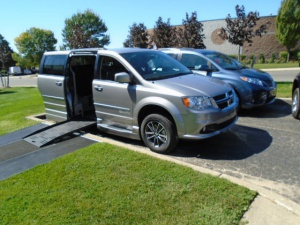 New Wheelchair Van For Sale: 2017 Dodge Grand Caravan SXT Wheelchair Accessible Van For Sale with a Braunability Entervan XT on it. VIN: 2C4RDGCGXHR775730