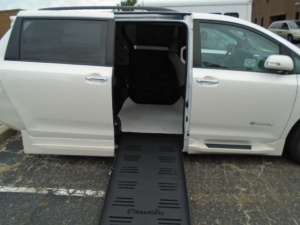 New Wheelchair Van For Sale: 2017 Toyota Sienna Limited Wheelchair Accessible Van For Sale with a BraunAbility Rampvan XT on it. VIN: 5TDYZ3DC8HS876743