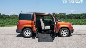 Used Wheelchair Van For Sale: 2010 Honda Element EX  Wheelchair Accessible Van For Sale with a Freedom Motors - Freedom Motors Honda Element Conversion on it. VIN: 5j6yh1h74al003920
