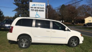 Used Wheelchair Van For Sale: 2009 Dodge Grand Caravan SXT  Wheelchair Accessible Van For Sale with a FR Wheelchair Vans - Dodge Rear Entry on it. VIN: 2d8hn54x69r639481