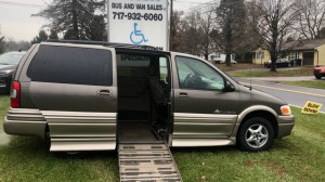 Used Wheelchair Van For Sale: 2005 Pontiac Montana  Wheelchair Accessible Van For Sale with a Americas Mobility Superstore - AMS Vans Legend II Side-entry on it. VIN: 1g5dv3e45d133528