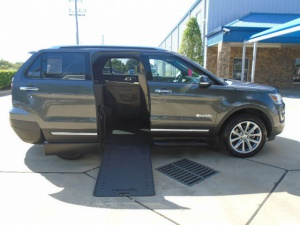 Used Wheelchair Van For Sale: 2017 Ford Explorer Limited Wheelchair Accessible Van For Sale with a BraunAbility MXV Wheelchair SUV on it. VIN: 1FM5K7F89HGB82026