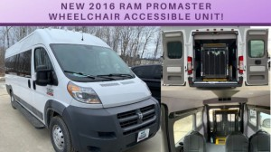 New Wheelchair Van For Sale: 2016 Ram Promaster  Wheelchair Accessible Van For Sale with a Commercial Vans - Ram Promaster on it. VIN: 3C6URVUGXGE115774