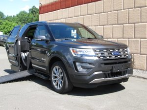 Used Wheelchair Van For Sale: 2017 Ford Explorer Limited Wheelchair Accessible Van For Sale with a BraunAbility MXV Wheelchair SUV on it. VIN: 1FM5K7F85HGB81584