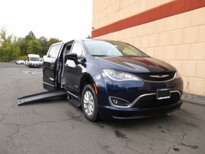New Wheelchair Van For Sale: 2018 Chrysler Pacifica Touring Wheelchair Accessible Van For Sale with a BraunAbility BraunAbility Pacifica Foldout XT on it. VIN: 2C4RC1FG6JR114066