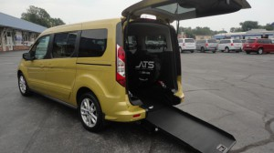 Used Wheelchair Van For Sale: 2016 Ford Transit Connect Wagon XLT w/Rear Liftgate LWB  Wheelchair Accessible Van For Sale with a ATS - ATS Rear Entry on it. VIN: NM0GE9F70G1261106
