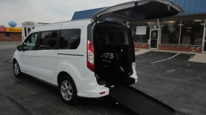 Used Wheelchair Van For Sale: 2016 Ford Transit Connect Wagon XLT w/Rear Liftgate LWB  Wheelchair Accessible Van For Sale with a ATS - ATS Rear Entry on it. VIN: NM0GE9F78G1279515