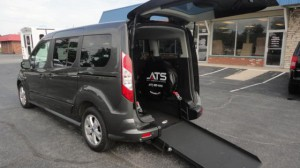 Used Wheelchair Van For Sale: 2016 Ford Transit Connect Wagon XLT w/Rear Liftgate LWB  Wheelchair Accessible Van For Sale with a ATS - ATS Rear Entry on it. VIN: NM0GE9F73G1255039