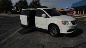 Used Wheelchair Van For Sale: 2017 Dodge Caravan  Wheelchair Accessible Van For Sale with a Americas Mobility Superstore - AMS Vans Legend II Side-entry on it. VIN: 2C4RDGCG3HR813041