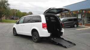 Used Wheelchair Van For Sale: 2018 Dodge Caravan  Wheelchair Accessible Van For Sale with a FR Wheelchair Vans - Dodge Rear Entry on it. VIN: 2C4RDGEGXJR200241