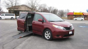 Used Wheelchair Van For Sale: 2013 Toyota Sienna LE Wheelchair Accessible Van For Sale with a Adaptive Mobility Systems - Side Entry Toyota Sienna on it. VIN: 5TDKK3DC8DS329301