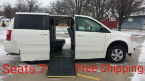Used Wheelchair Van For Sale: 2010 Dodge Grand Caravan SE  Wheelchair Accessible Van For Sale with a Eldorado National Amerivan - Dodge & Chrysler Amerivan PT on it. VIN: 2D4RN4DE4AR349968