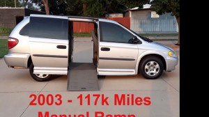Used Wheelchair Van For Sale: 2003 Dodge Caravan  Wheelchair Accessible Van For Sale with a 1 on it. VIN: 1D4GP243X3B117168