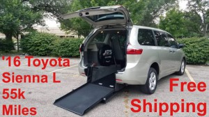 Used Wheelchair Van For Sale: 2016 Toyota Sienna LE Wheelchair Accessible Van For Sale with a ATS - ATS Rear Entry on it. VIN: 5TDZK3DC2GS735108