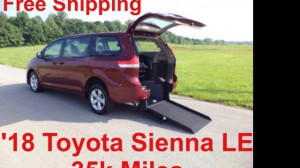 Used Wheelchair Van For Sale: 2018 Toyota Sienna LE Wheelchair Accessible Van For Sale with a ATS - ATS Rear Entry on it. VIN: 5TDKZ3DC0JS909486