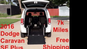 Used Wheelchair Van For Sale: 2016 Dodge Caravan  Wheelchair Accessible Van For Sale with a 1 on it. VIN: 2C4RDGBG7GR319913