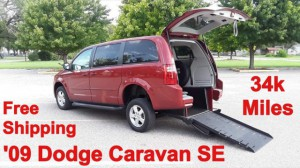 Used Wheelchair Van For Sale: 2009 Dodge Caravan  Wheelchair Accessible Van For Sale with a Triple S Mobility - Manual Rear Entry Dodge on it. VIN: 2D8HN44E29R605739