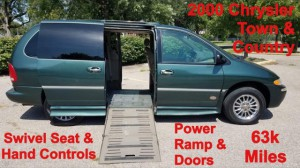 Used Wheelchair Van For Sale: 2000 Chrysler Town & Country Limited Wheelchair Accessible Van For Sale with a Non Branded - Please See Description on it. VIN: 1C4GP64L0YB614287