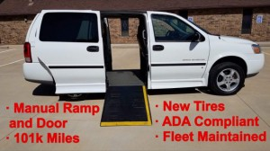 Used Wheelchair Van For Sale: 2007 Chevrolet Uplander  Wheelchair Accessible Van For Sale with a BraunAbility - Chevrolet Entervan on it. VIN: 1GBDV13147D174612