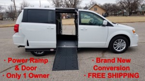 Used Wheelchair Van For Sale: 2019 Dodge Caravan  Wheelchair Accessible Van For Sale with a Adaptive Mobility Systems - Side Entry Dodge Grand Caravan on it. VIN: 2C4RDGCG2KR758573