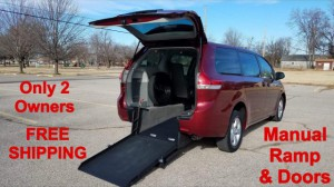 Used Wheelchair Van For Sale: 2014 Toyota Sienna Limited Wheelchair Accessible Van For Sale with a ATS - ATS Rear Entry on it. VIN: 5TDZK3DC4ES457924