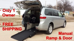 Used Wheelchair Van For Sale: 2017 Toyota Sienna LE Wheelchair Accessible Van For Sale with a ATS - ATS Rear Entry on it. VIN: 5TDKZ3DC2HS769452