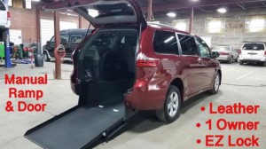 Used Wheelchair Van For Sale: 2019 Toyota Sienna LE Wheelchair Accessible Van For Sale with a ATS - ATS Rear Entry on it. VIN: 5TDKZ3DC9KS014936
