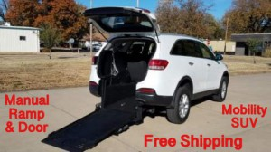 Used Wheelchair Van For Sale: 2016 Kia Sorento LX Wheelchair Accessible Van For Sale with a Freedom Motors - Freedom Motors Kia Sorento on it. VIN: 5XYPG4A37GG052613
