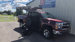 Used Wheelchair Van For Sale: 2014 Chevrolet Silverado LT Wheelchair Accessible Van For Sale with a ATC Wheelchair Truck Conversions - 1500 Chevy & GMC Trucks on it. VIN: 3GCPCREC3EG153648