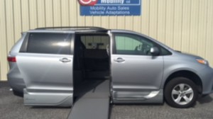 Used Wheelchair Van For Sale: 2018 Toyota Sienna LE Wheelchair Accessible Van For Sale with a VMI - Toyota NorthstarAccess360 on it. VIN: 5TDKZ3DC7JS908299