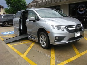 New Wheelchair Van For Sale: 2019 Honda Odyssey EX-L Wheelchair Accessible Van For Sale with a BraunAbility Honda Power Infloor on it. VIN: 5FNRL6H73KB118227