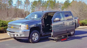 Used Wheelchair Van For Sale: 2012 Chevrolet Silverado LT Wheelchair Accessible Van For Sale with a ATC Wheelchair Truck Conversions - 1500 Chevy & GMC Trucks on it. VIN: 3GCPKSE7XCG163359