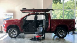 New Wheelchair Van For Sale: 2019 Chevrolet Silverado Crew Wheelchair Accessible Van For Sale with a ATC Wheelchair Truck Conversions - 1500 Chevy & GMC Trucks on it. VIN: 3GCPWDED8KG302103