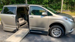 Used Wheelchair Van For Sale: 2015 Toyota Sienna XLE Wheelchair Accessible Van For Sale with a VMI - Toyota NorthstarAccess360 on it. VIN: 5TDYK3DC4FS674810