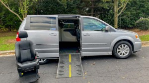 Used Wheelchair Van For Sale: 2016 Chrysler Town & Country Touring Wheelchair Accessible Van For Sale with a Americas Mobility Superstore - AMS Vans Legend II Side-entry on it. VIN: 2C4RC1BG1GR185917