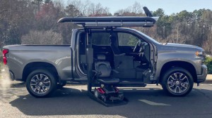 New Wheelchair Van For Sale: 2020 Chevrolet Silverado  Wheelchair Accessible Van For Sale with a ATC Wheelchair Truck Conversions - 1500 Chevy & GMC Trucks on it. VIN: 3GCPWDED1LG174806
