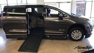 New Wheelchair Van For Sale: 2018 Chrysler Pacifica Touring Wheelchair Accessible Van For Sale with a BraunAbility BraunAbility Pacifica Foldout XT on it. VIN: 2C4RC1BG0JR115624