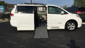 Used Wheelchair Van For Sale: 2014 Toyota Sienna LE Wheelchair Accessible Van For Sale with a BraunAbility - Toyota Rampvan XT on it. VIN: 5tdkk3dc0es497337