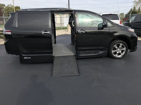 Used Wheelchair Van For Sale: 2014 Toyota Sienna SE Wheelchair Accessible Van For Sale with a VMI - Toyota NorthstarAccess360 on it. VIN: 5tdxk3dc6es447385
