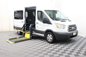 Used Wheelchair Van For Sale: 2017 Ford Transit LT Wheelchair Accessible Van For Sale with a AMS Vans Ford Transit Side Lift on it. VIN: 1FBAX2CM1HKA73053
