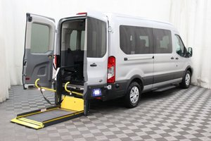 Used Wheelchair Van For Sale: 2017 Ford Transit LT Wheelchair Accessible Van For Sale with a AMS Vans Ford Rear/Side on it. VIN: 1FBAX2CM1HKB13843