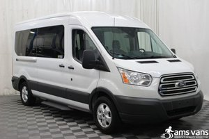 Used Wheelchair Van For Sale: 2017 Ford Transit LT Wheelchair Accessible Van For Sale with a AMS Vans Ford Transit Side Lift on it. VIN: 1FBAX2CM3HKA98925