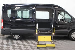 Used Wheelchair Van For Sale: 2018 Ford Transit LT Wheelchair Accessible Van For Sale with a AMS Vans Ford Transit Side Lift on it. VIN: 1FBAX2CM7JKB02920
