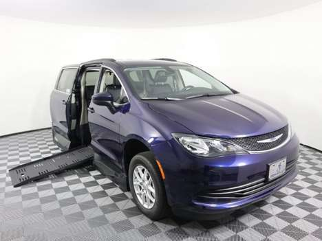 Used Wheelchair Van For Sale: 2020 Chrysler Voyager LX Wheelchair Accessible Van For Sale with a AMS Vans Legend II P on it. VIN: 2C4RC1DG8LR148287