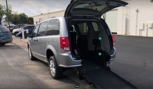 New Wheelchair Van For Sale: 2019 Dodge Grand Caravan SE Wheelchair Accessible Van For Sale with a AMS Vans Edge II on it. VIN: 2C4RDGBGXKR585662
