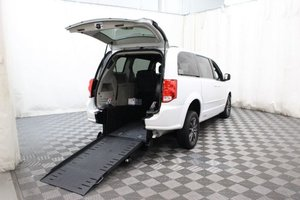 Used Wheelchair Van For Sale: 2017 Dodge Grand Caravan SXT Wheelchair Accessible Van For Sale with a AMS Vans Edge II on it. VIN: 2C4RDGCG1HR806752