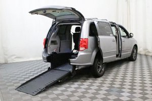 Used Wheelchair Van For Sale: 2017 Dodge Grand Caravan SXT Wheelchair Accessible Van For Sale with a AMS Vans Edge II on it. VIN: 2C4RDGCG4HR774007