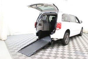 Used Wheelchair Van For Sale: 2017 Dodge Grand Caravan SXT Wheelchair Accessible Van For Sale with a AMS Vans Edge on it. VIN: 2C4RDGCG5HR863052