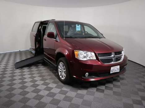 Used Wheelchair Van For Sale: 2018 Dodge Grand Caravan SXT Wheelchair Accessible Van For Sale with a AMS Vans Legend II D on it. VIN: 2C4RDGCG6JR179102